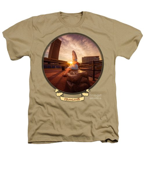 Shark Girl Dawn - Horizontal Heathers T-Shirt by Chris Bordeleau