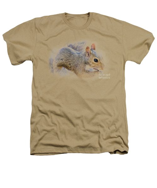 Another Peanut Please - Squirrel - Nature Heathers T-Shirt by Barry Jones