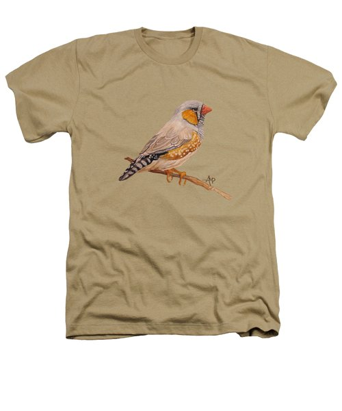 Zebra Finch Heathers T-Shirt by Angeles M Pomata