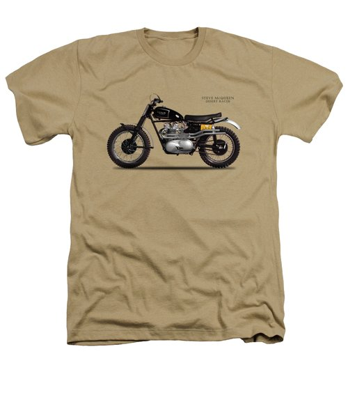 The Steve Mcqueen Desert Racer Heathers T-Shirt by Mark Rogan