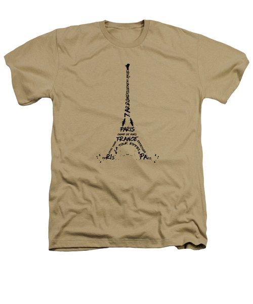 Digital Art Eiffel Tower Pattern Heathers T-Shirt by Melanie Viola