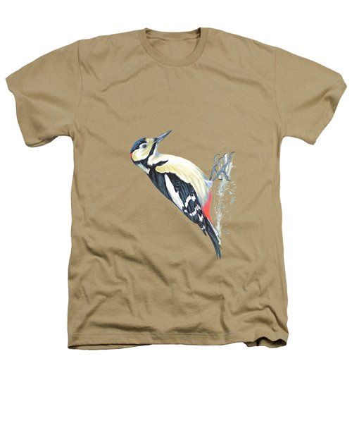 Great Spotted Woodpecker Heathers T-Shirt