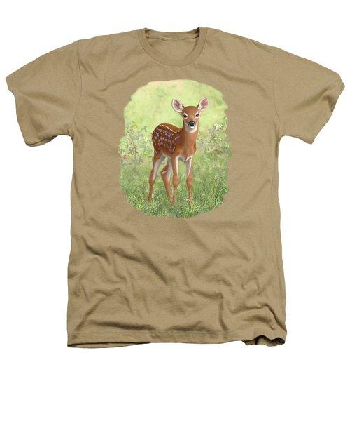 Cute Whitetail Deer Fawn Heathers T-Shirt