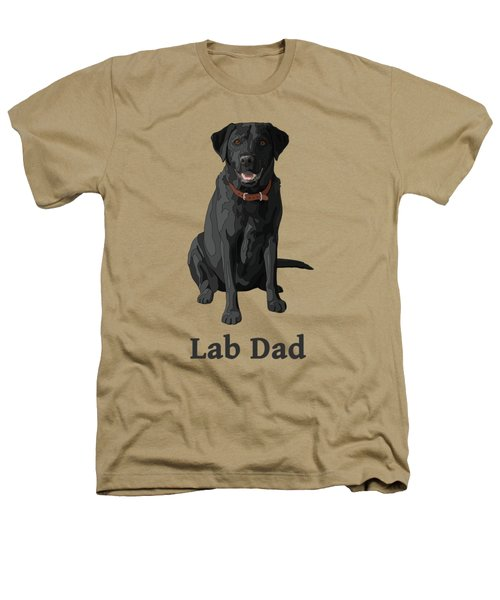Black Labrador Retriever Lab Dad Heathers T-Shirt by Crista Forest