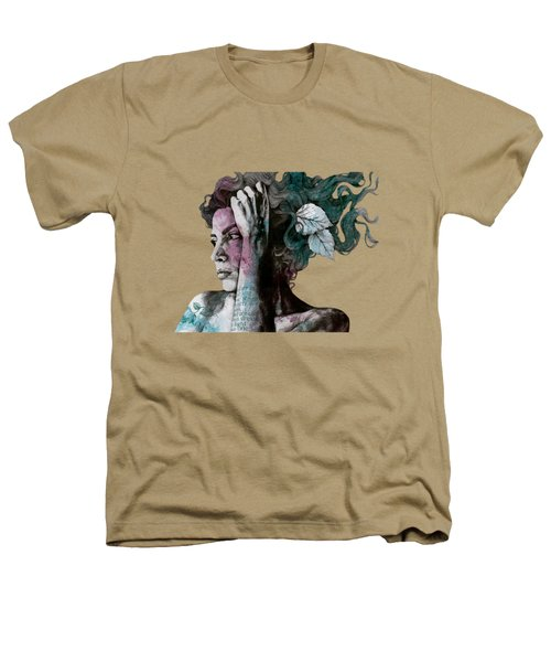 Beneath Broken Earth - Street Art Drawing, Woman With Leaves And Tattoos Heathers T-Shirt