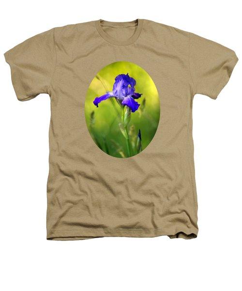 Violet Iris Heathers T-Shirt by Christina Rollo