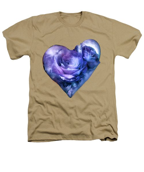 Heart Of A Rose - Lavender Blue Heathers T-Shirt by Carol Cavalaris