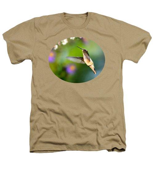 Garden Hummingbird Heathers T-Shirt by Christina Rollo