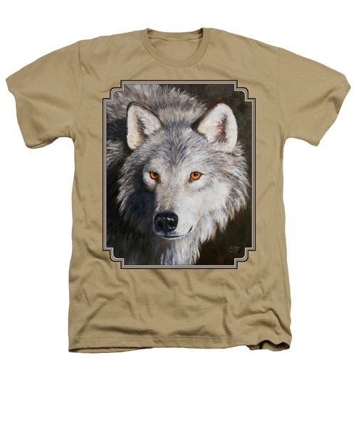 Wolf Portrait Heathers T-Shirt by Crista Forest