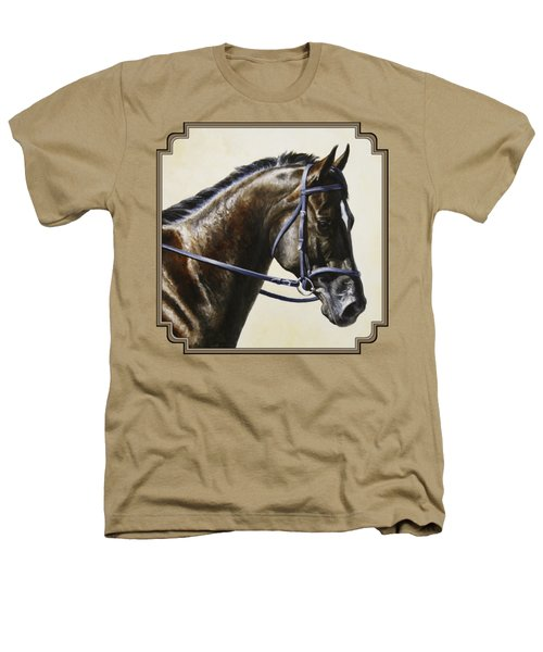 Dressage Horse - Concentration Heathers T-Shirt by Crista Forest