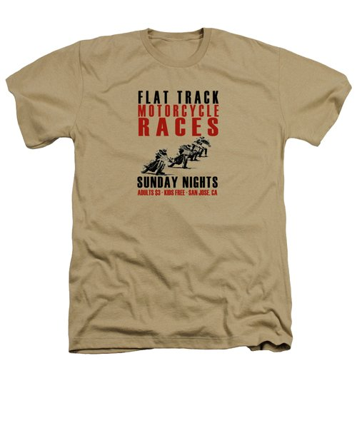 Flat Track Motorcycle Races Heathers T-Shirt by Mark Rogan