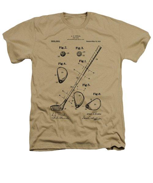 Vintage 1910 Golf Club Patent Artwork Heathers T-Shirt