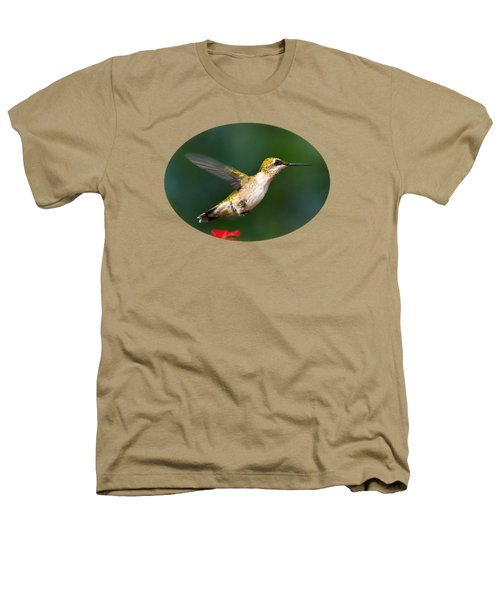 Summer Hummingbird Heathers T-Shirt by Christina Rollo