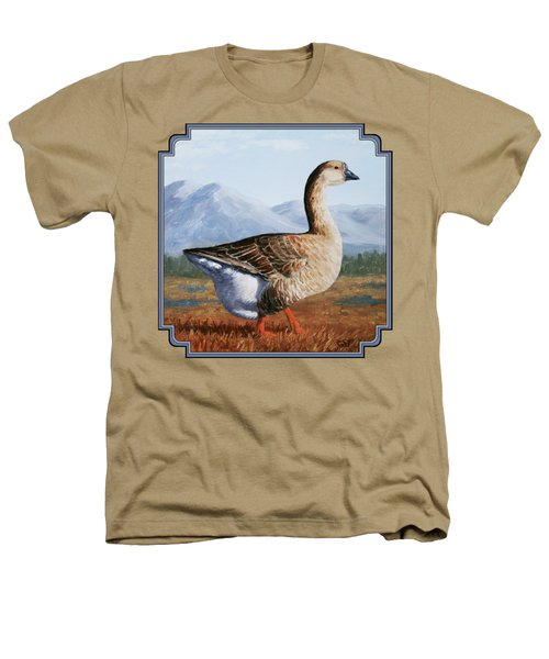 Brown Chinese Goose Heathers T-Shirt by Crista Forest