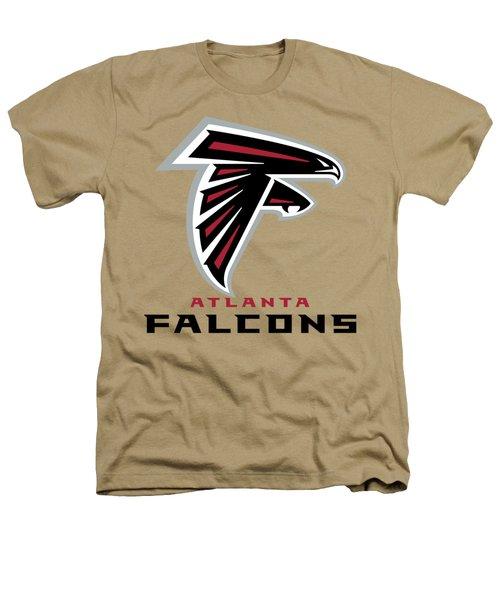 Atlanta Falcons On An Abraded Steel Texture Heathers T-Shirt