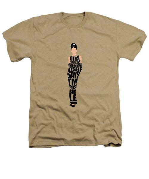 Audrey Hepburn Typography Poster Heathers T-Shirt