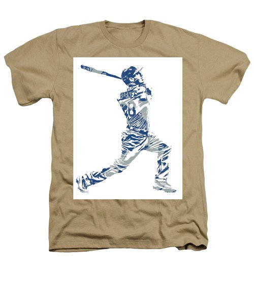 Austin Barnes Los Angeles Dodgers Pixel Art 1 Heathers T-Shirt