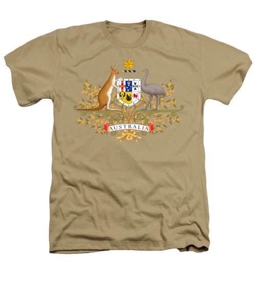 Australia Coat Of Arms Heathers T-Shirt by Movie Poster Prints