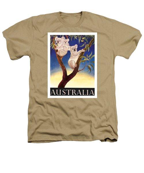 Australia Koala Vintage World Travel Poster By Eileen Mayo Heathers T-Shirt