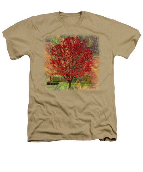 Autumn Scenic 2 Heathers T-Shirt by John M Bailey