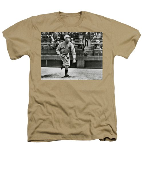 Babe Ruth - Pitcher Boston Red Sox  1915 Heathers T-Shirt by Daniel Hagerman