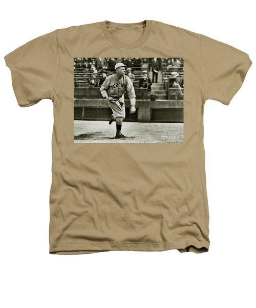 Babe Ruth Pitching Heathers T-Shirt