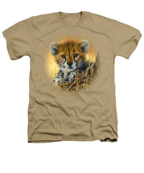 Baby Cheetah  Heathers T-Shirt by Lucie Bilodeau