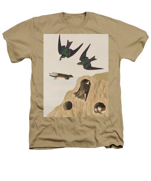 Bank Swallows Heathers T-Shirt by John James Audubon