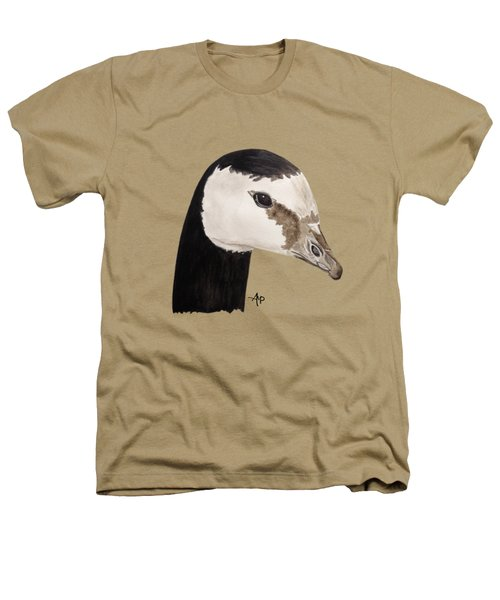 Barnacle Goose Portrait Heathers T-Shirt by Angeles M Pomata