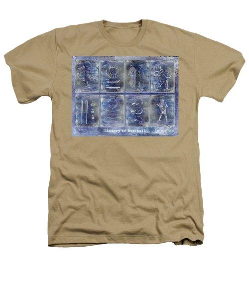 Baseball Patent History Blue Heathers T-Shirt