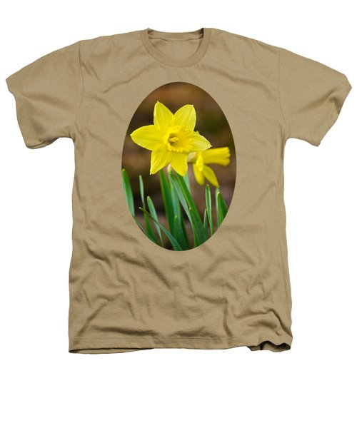 Beautiful Daffodil Flower Heathers T-Shirt by Christina Rollo