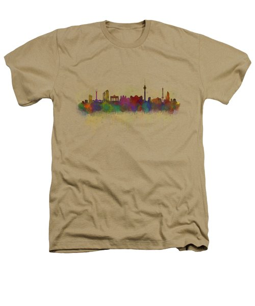 Berlin City Skyline Hq 5 Heathers T-Shirt by HQ Photo