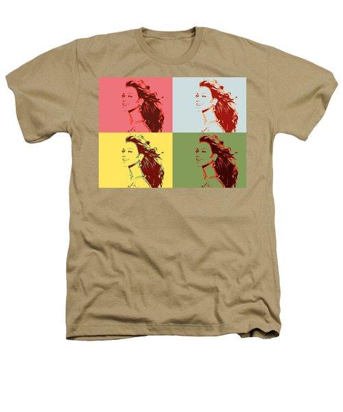 Beyonce Pop Art Panels Heathers T-Shirt