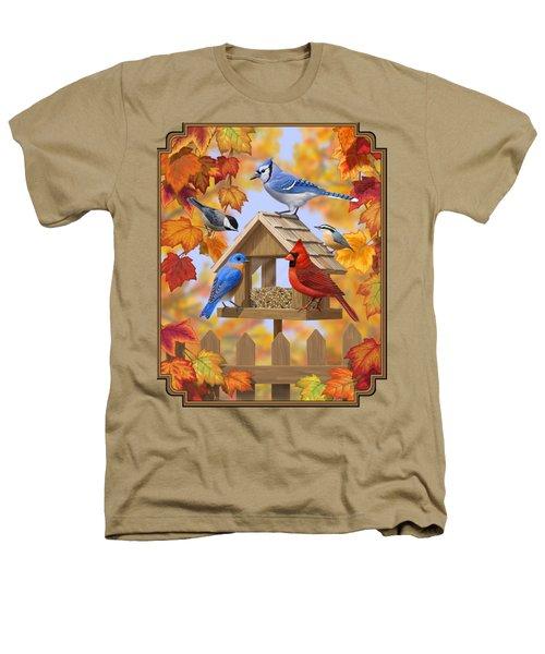 Bird Painting - Autumn Aquaintances Heathers T-Shirt
