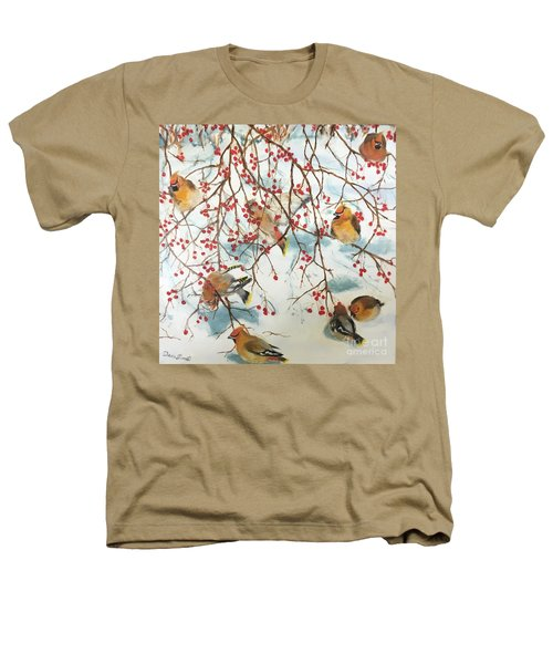 Birds And Berries Heathers T-Shirt