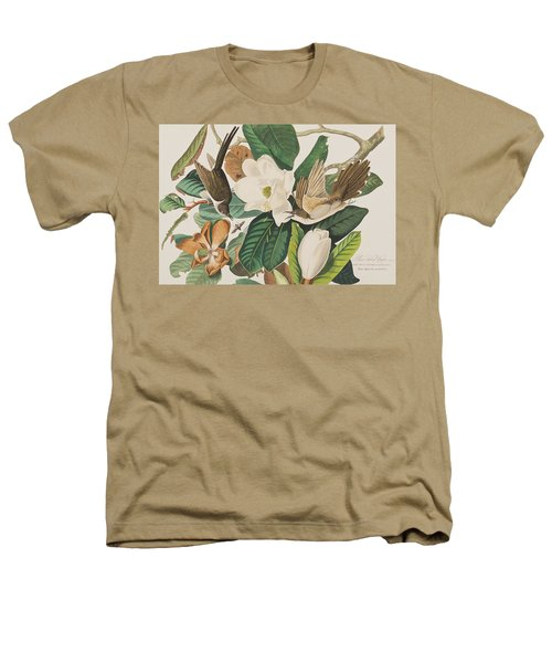 Black Billed Cuckoo Heathers T-Shirt by John James Audubon