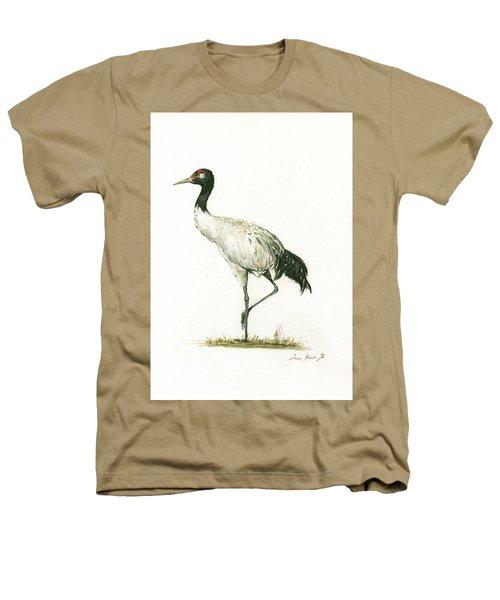 Black Necked Crane Heathers T-Shirt