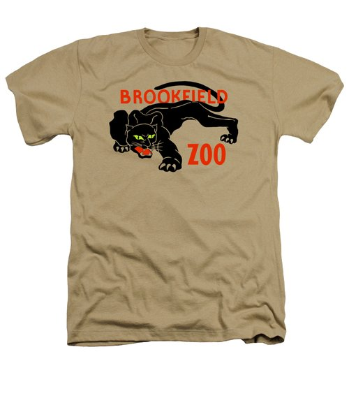 Black Panther Brookfield Zoo Ad Heathers T-Shirt