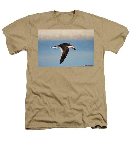 Black Skimmer In Flight Heathers T-Shirt