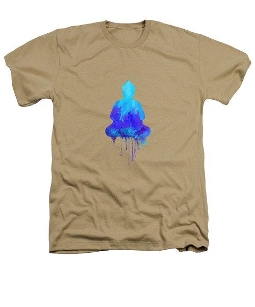 Blue Buddha Watercolor Painting Heathers T-Shirt by Thubakabra