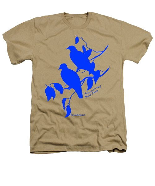 Blue Doves Heathers T-Shirt by The one eyed Raven