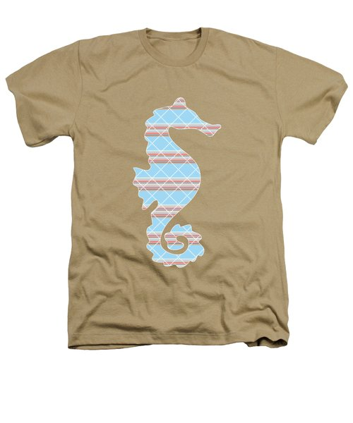 Blue Stripe Pattern Aged Heathers T-Shirt by Christina Rollo