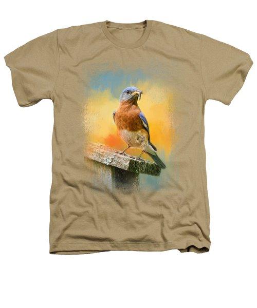 Bluebird Mealtime Heathers T-Shirt by Jai Johnson