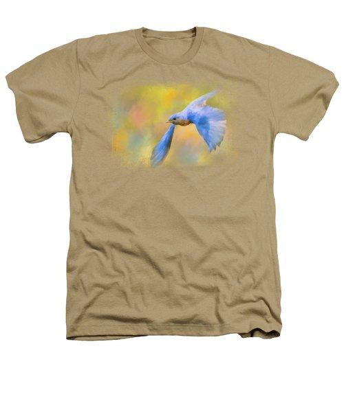Bluebird Spring Flight Heathers T-Shirt by Jai Johnson