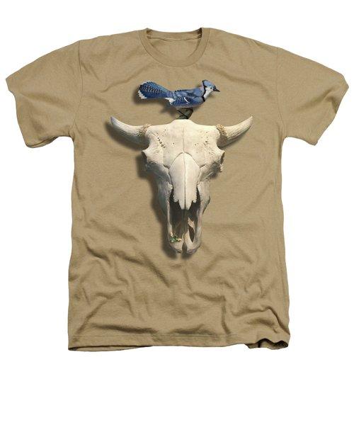 Bluejay And The Buffalo Skull Heathers T-Shirt