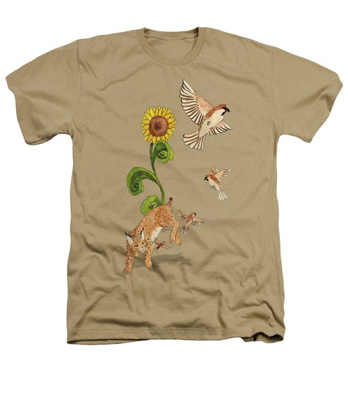 Bobcats And Beeswax Heathers T-Shirt by Teighlor Chaney