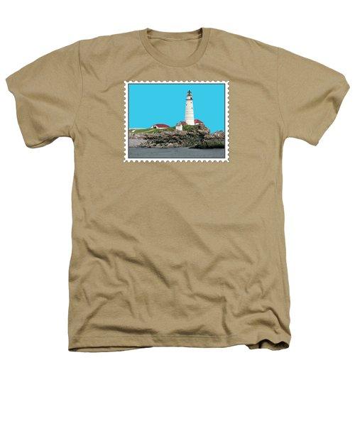 Boston Harbor Lighthouse Heathers T-Shirt by Elaine Plesser