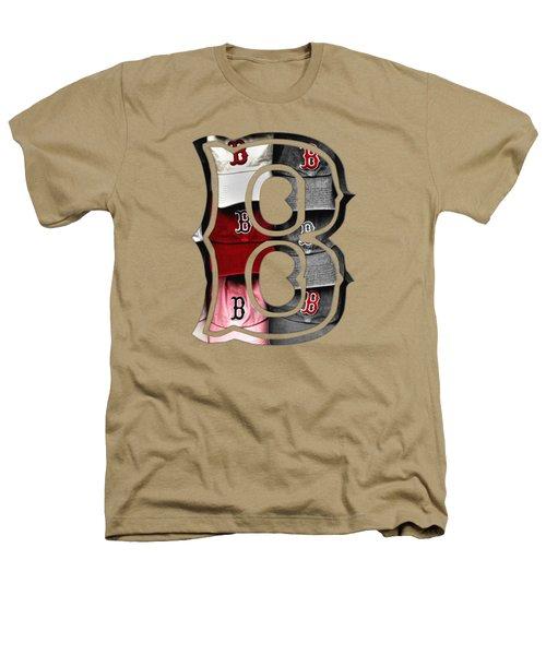 Boston Red Sox B Logo Heathers T-Shirt by Joann Vitali