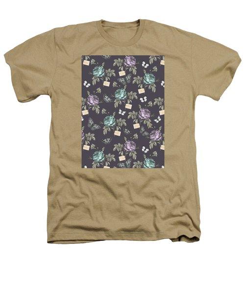 Botanical Roses Heathers T-Shirt by Stephanie Davies