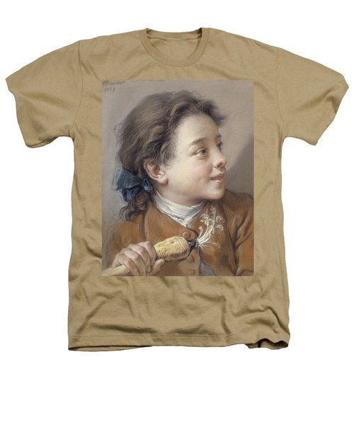 Boy With A Carrot, 1738 Heathers T-Shirt by Francois Boucher